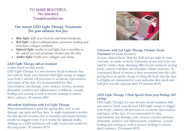 Book your LED FACIAL Treatment here