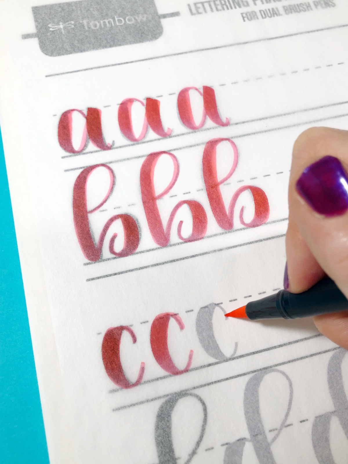 Building Lettering Confidence With Tombow And Tracing