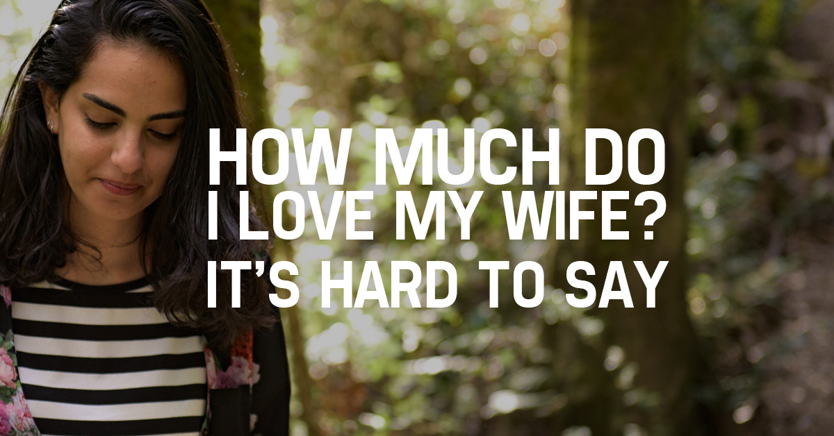 How Much Do I Love My Wife? It's Hard to Say