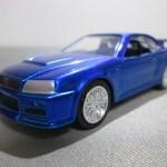 JADA TOYS FAST & FURIOUS BRIAN'S RIDES Nissan Skyline GT-R(R34)Blue