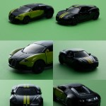 ミニカー発売情報 SIKU 限定セット ブラック&グリーン ブガッティEB 16.4 ヴェイロン&アルファロメオ 4C