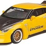 ミニカー発売情報 MINI GT 1/64 Pandem Nissan GT-R R35 ダックテイル メタリックイエロー/カーボン