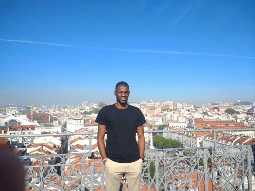 Tomiwa in Lisbon, December 2018