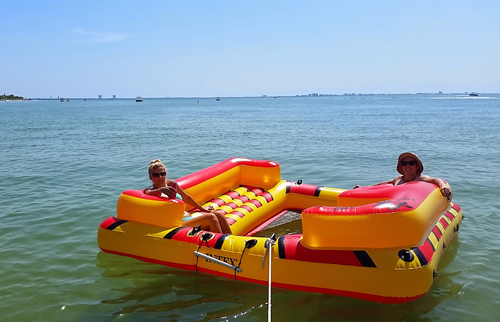 Blow up raft off Sanibel Island Florida
