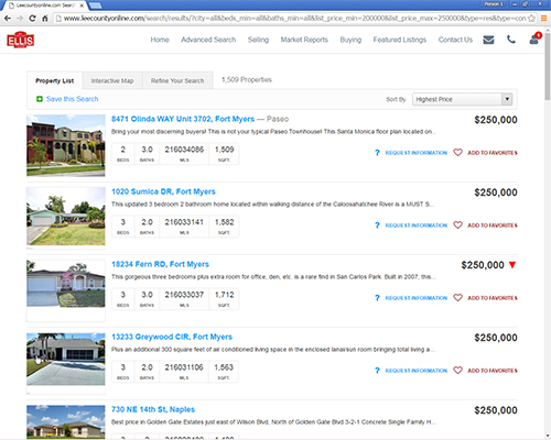 What Does $250,000 Buy in Lee County Real Estate Market MLS Search