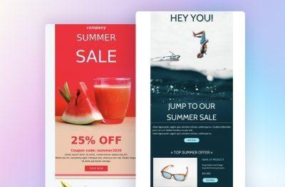 Summer sale newsletter templates
