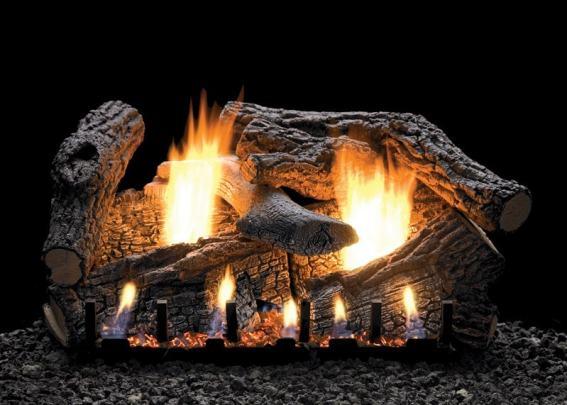 "White Mountain Hearth 24"" Super Sassafras Vent-Free Gas Log Set"