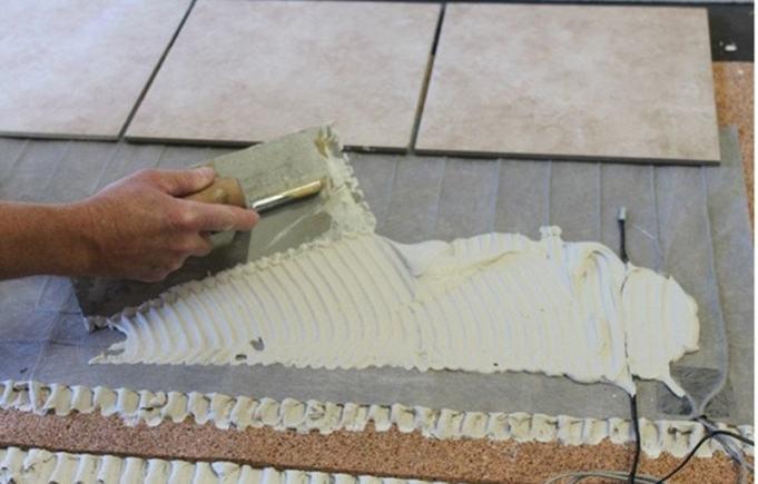 Image of floor mat installation
