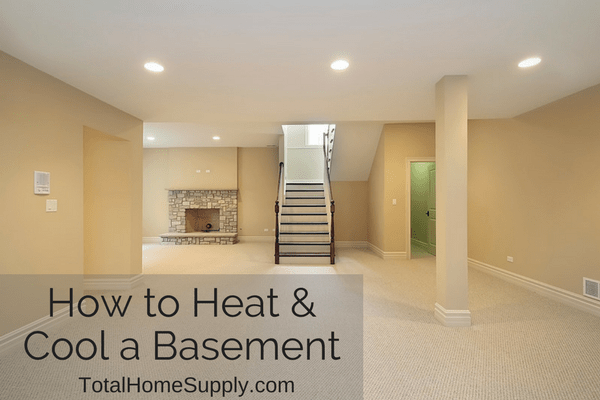 Heating and cooling a basement