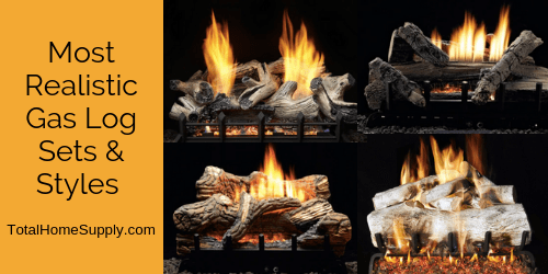 Most realistic gas log sets