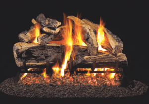 RH Peterson Real-Fyre Charred Rugged Split Oak Log Set