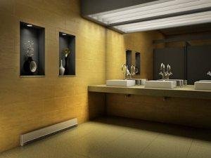 Commercial baseboard heat in restroom
