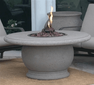 Fire table with concrete top