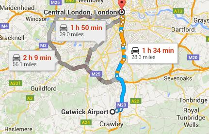 Best Family Transportation Option from Gatwick to Central London