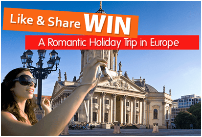 Like & Win Couple Holiday Trip in Europe