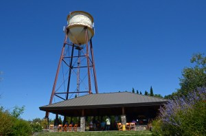 The iconic Martin Ray Winery water tower