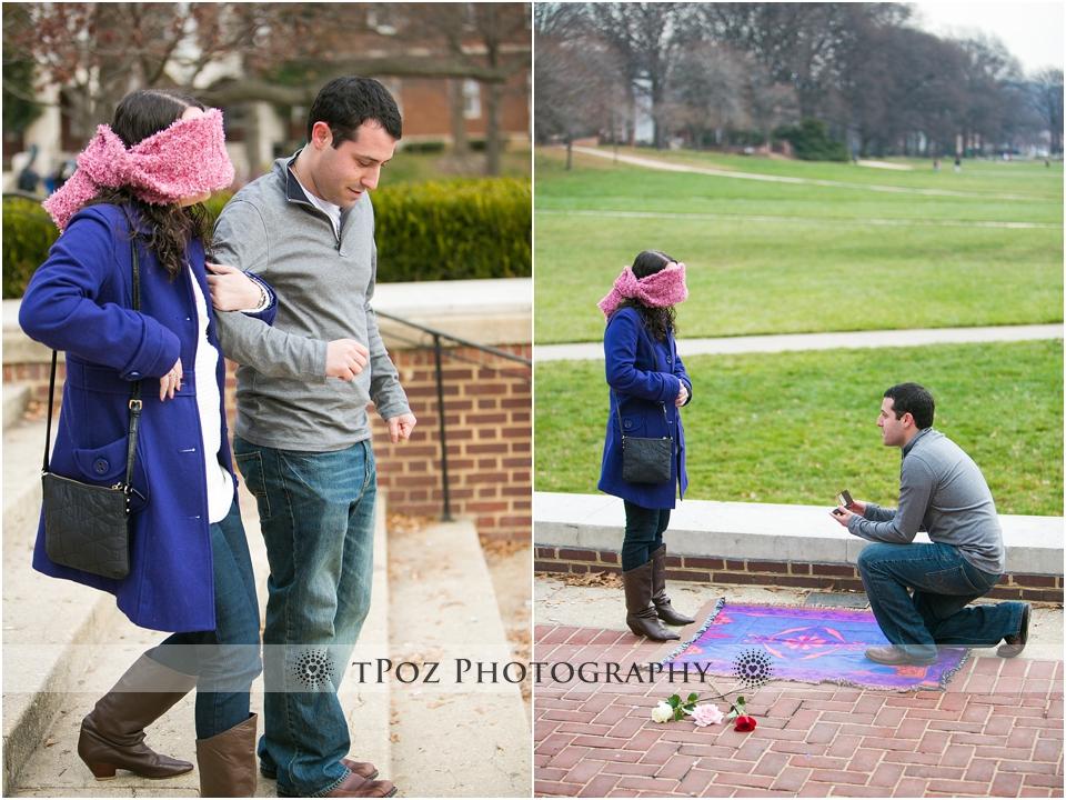 College Park Engagement Proposal Photos