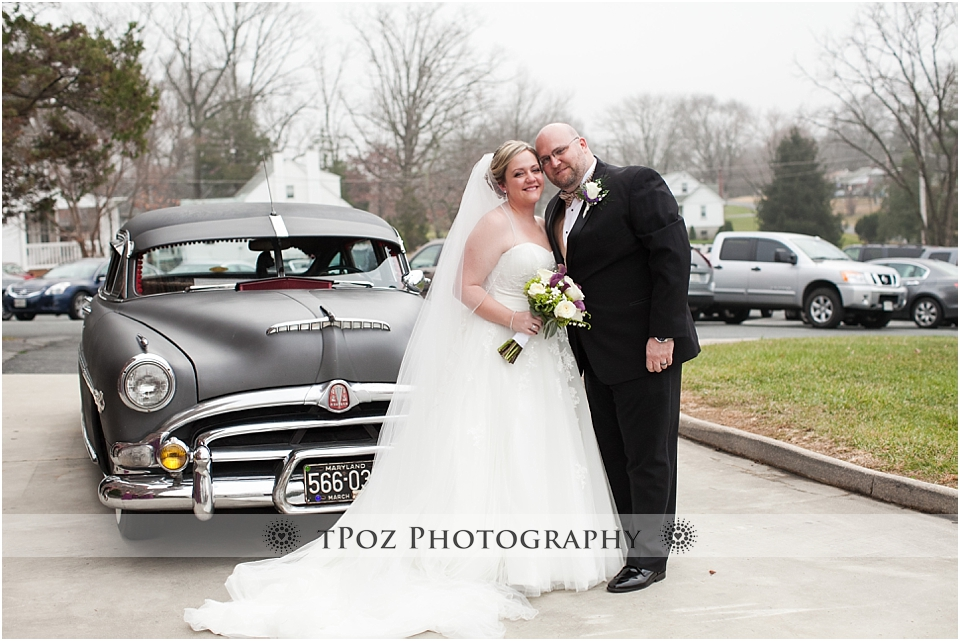 Baltimore wedding vintage car