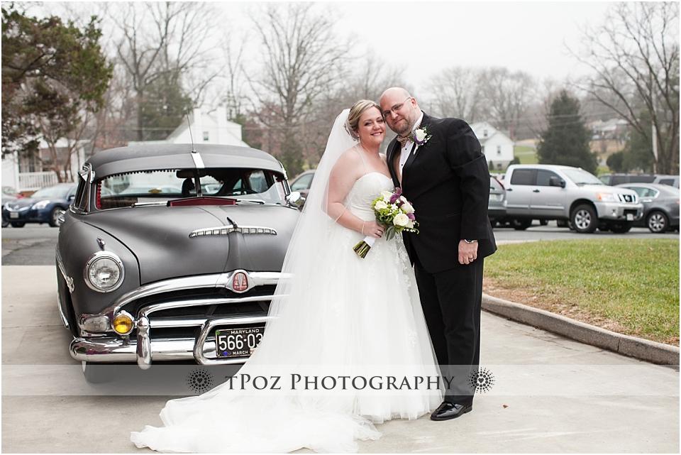Baltimore wedding vintage car