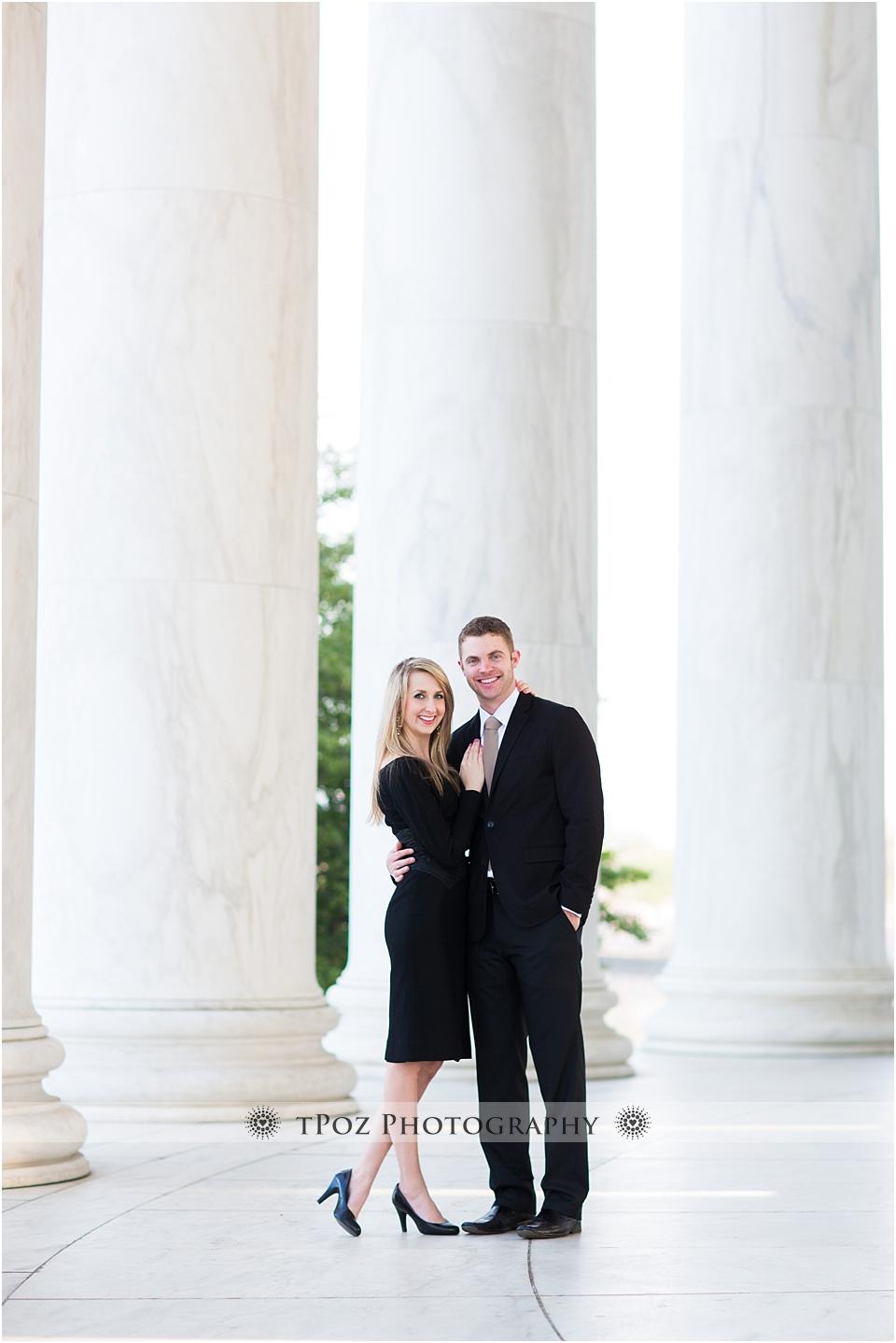 Jefferson Memorial Engagement Photo
