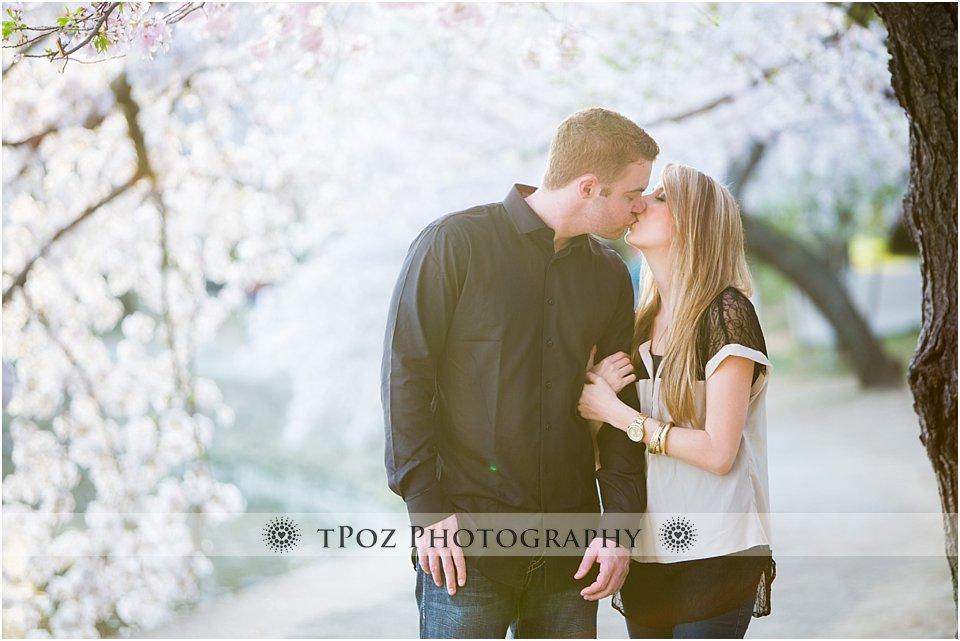 DC Cherry Blossom Engagement Photos