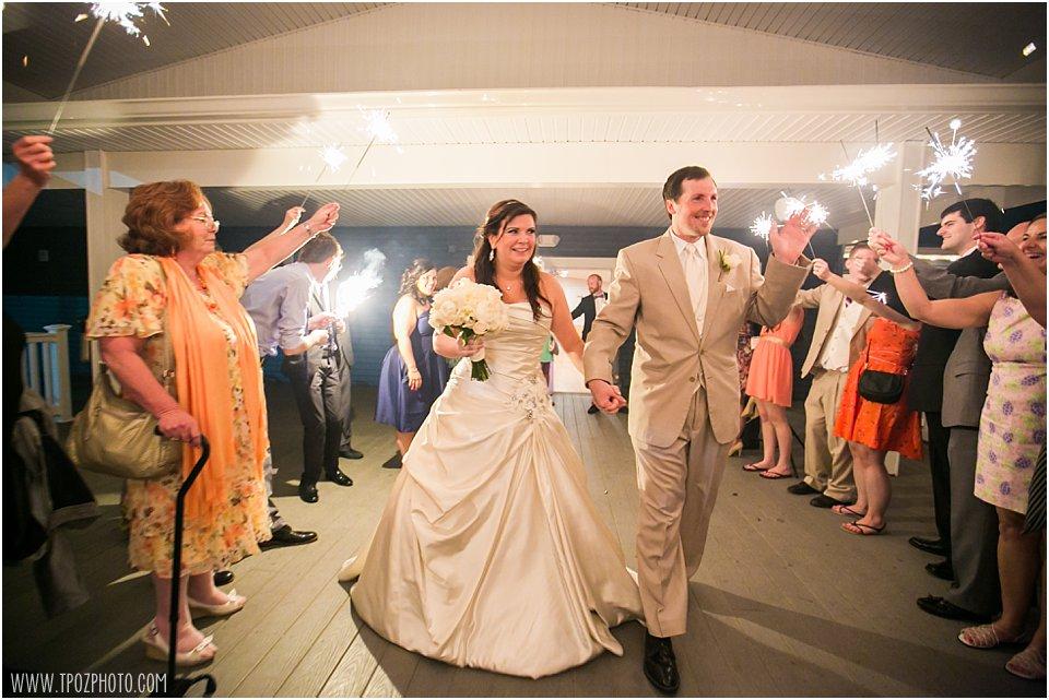 Anchor Inn Wedding sparkler exit