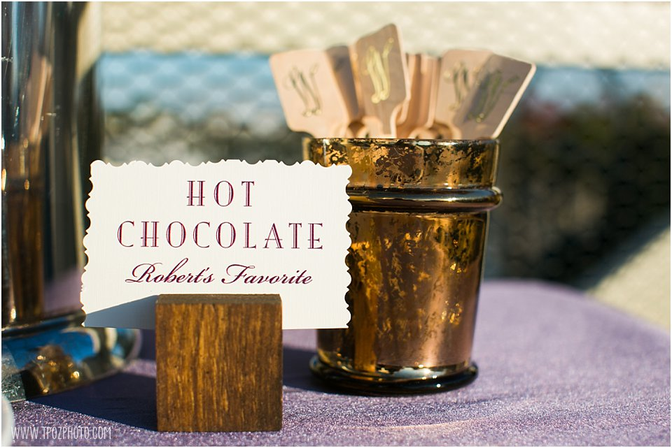 hot chocolate bar wedding
