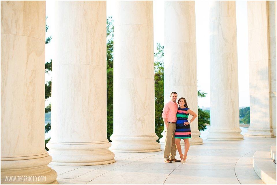 DC Engagement Photos Jefferson Memorial