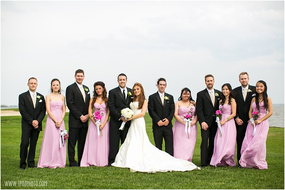 Rehoboth Beach Country Club Wedding Portraits Bridal Party