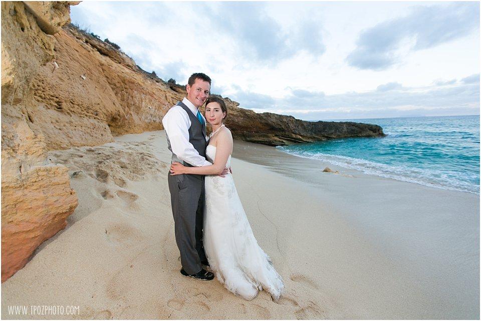 St. Martin Wedding Photos - Cupecoy Beach