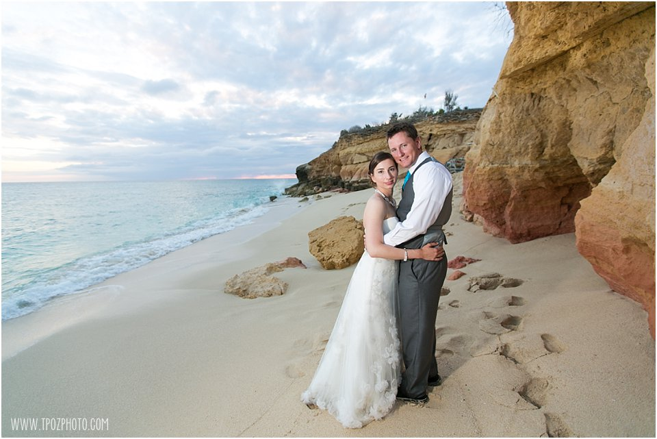 St. Martin Wedding Photos - Cupecoy Beach