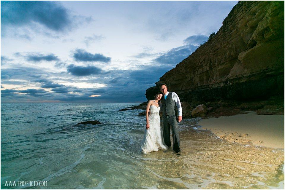Cupecoy Cliffs Beach Wedding Photos