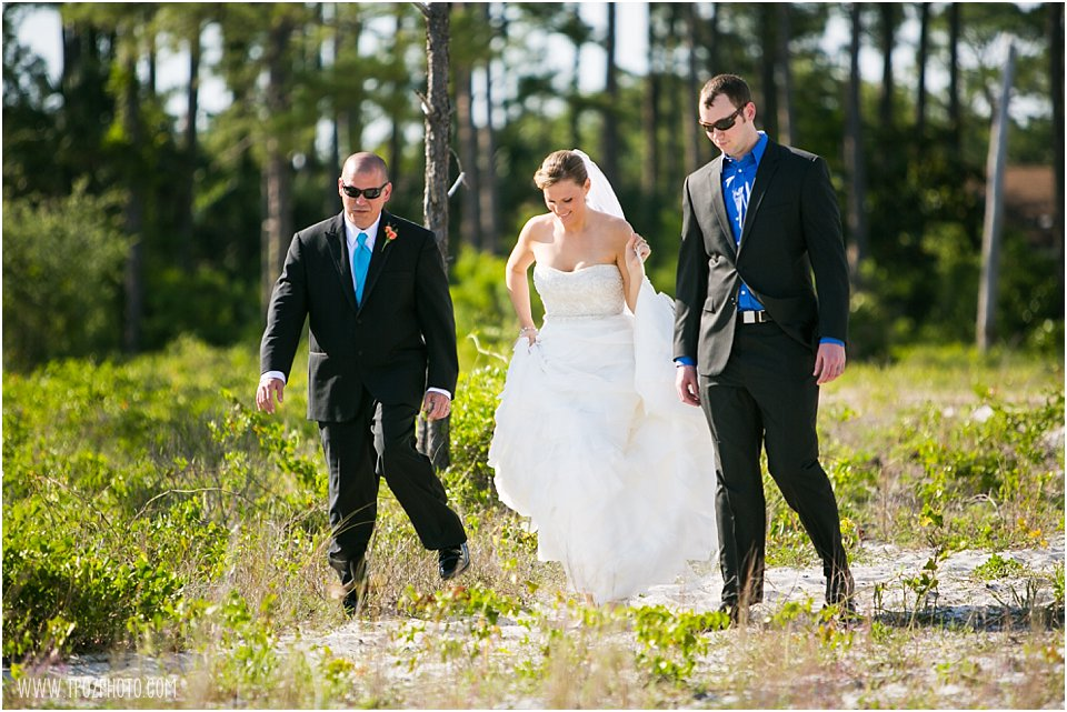 First Look at Hurlburt Field Wedding