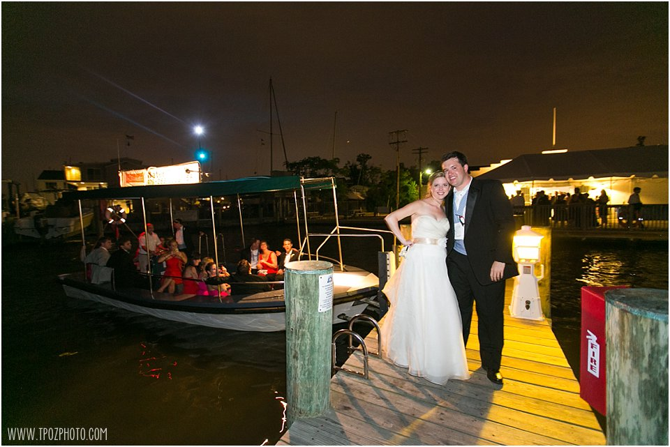 Annapolis Maritime Museum Wedding Reception - Water Taxi Departure