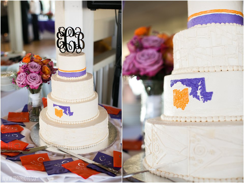 Maryland/Ohio wedding cake