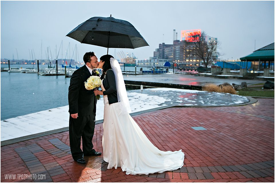 Snowy Baltimore Museum of Industry Wedding Pictures