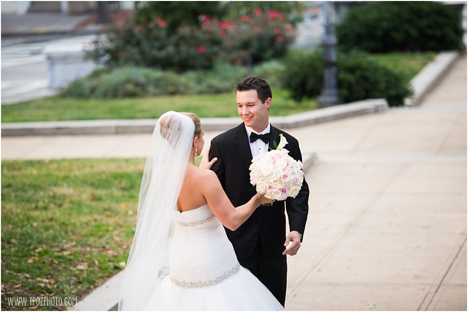 First Look Baltimore Wedding