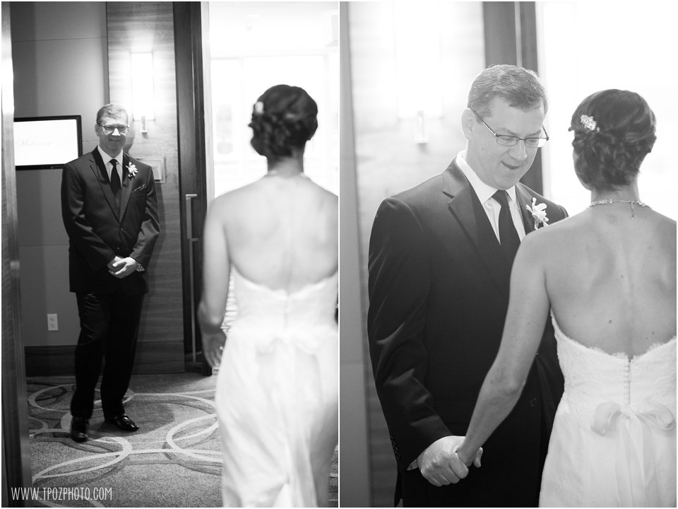 First Look with the bride's father