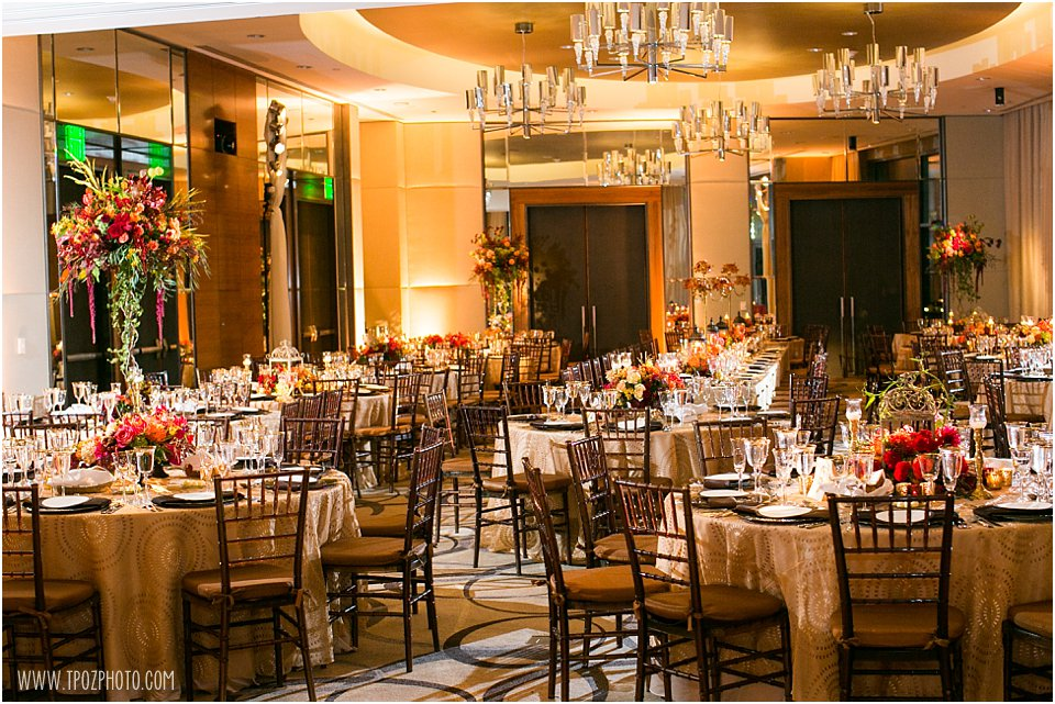 Four Seasons Baltimore Wedding Reception in the Cobalt Ballroom