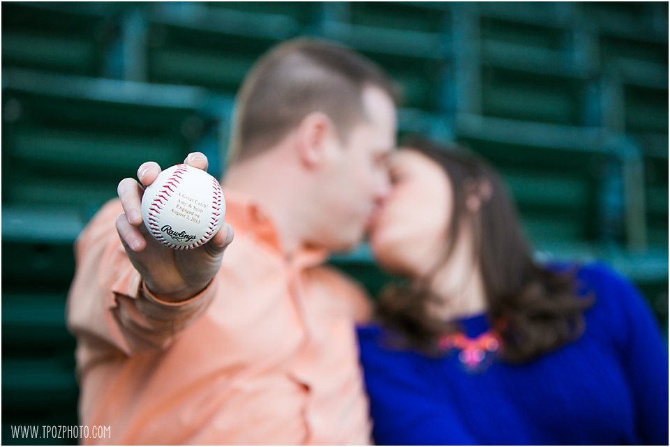 Baseball engagement photos