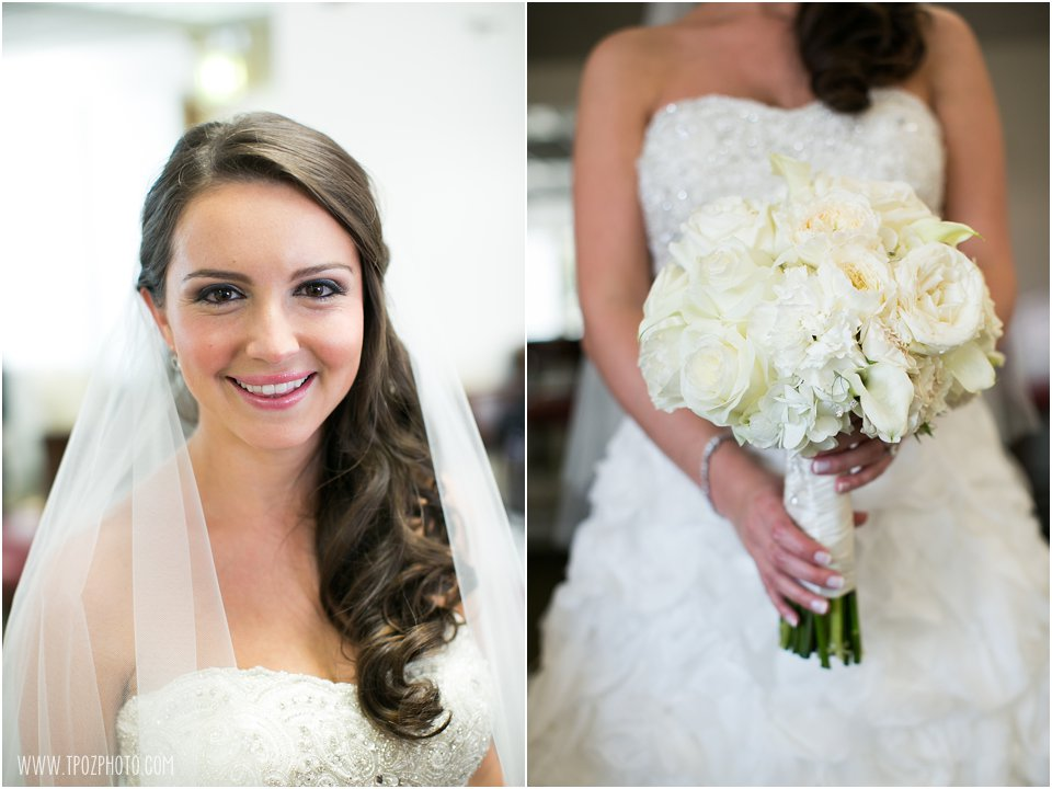 White Bouquet - Suburban Club Wedding  •  tPoz Photography  •  www.tpozphoto.com