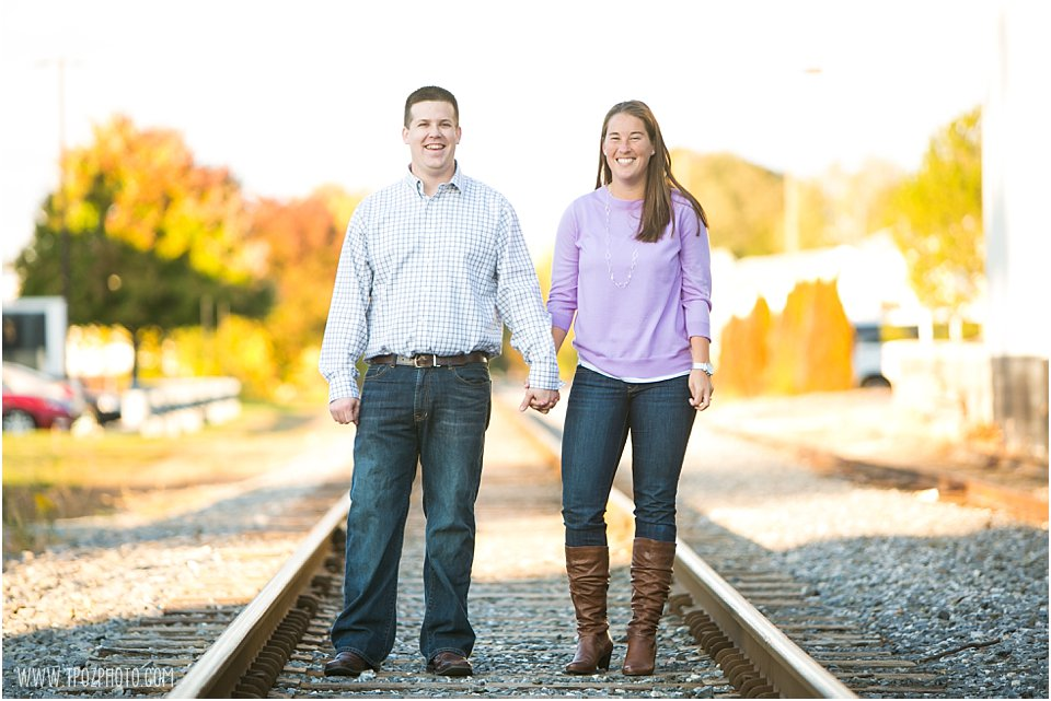 Westminster Engagement Session Train Tracks