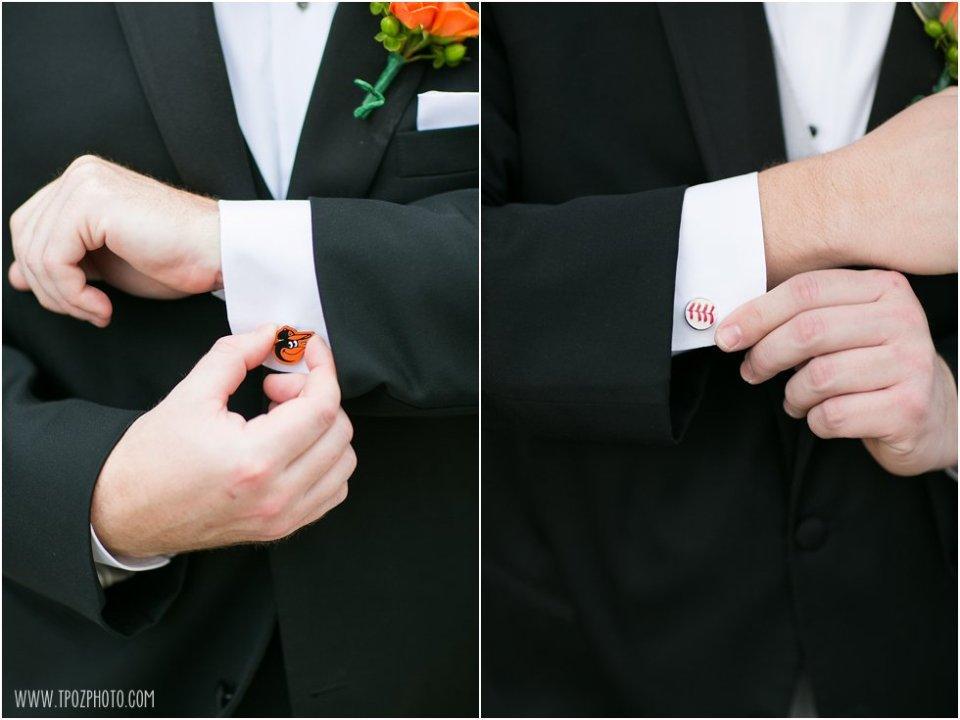 Orioles baseball cufflinks