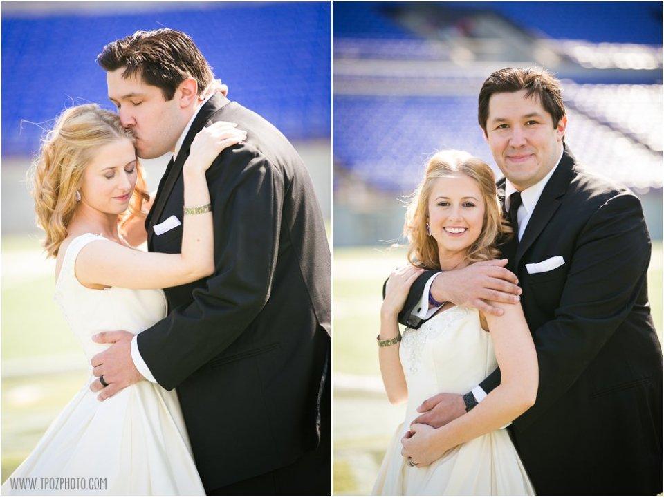 Football Stadium Wedding Photos