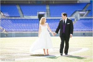 Baltimore Ravens Stadium wedding elopement