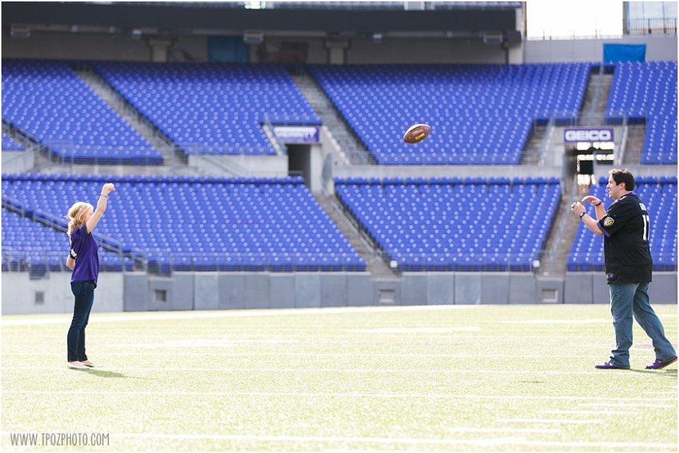 Ravens Stadium Engagement Photos