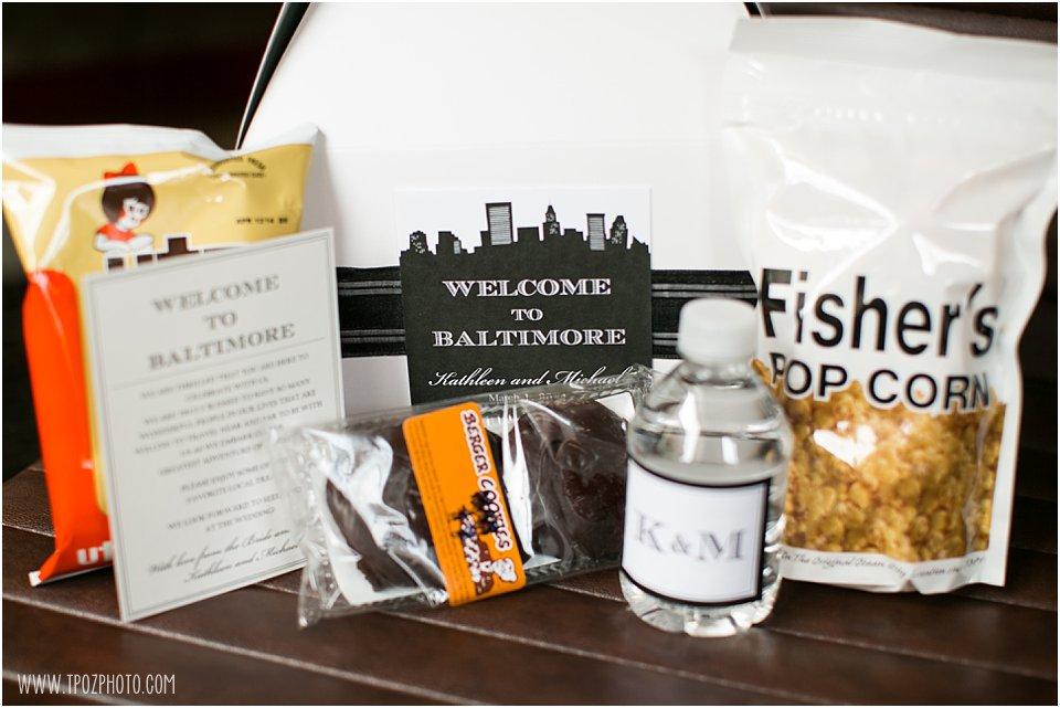 Baltimore Wedding Welcome Bag
