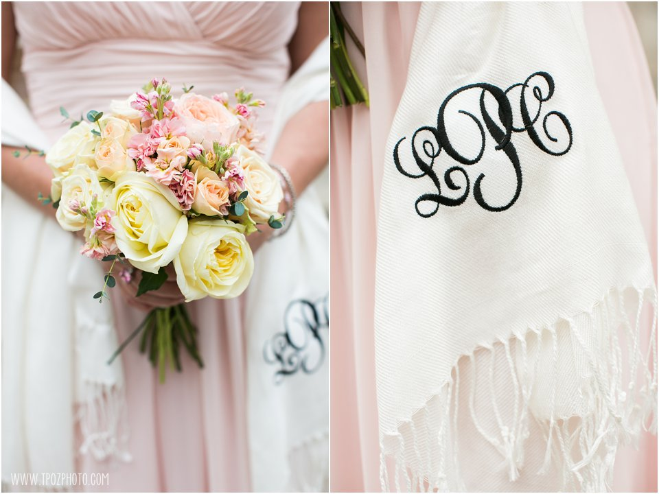 Bridesmaids Monogrammed wraps