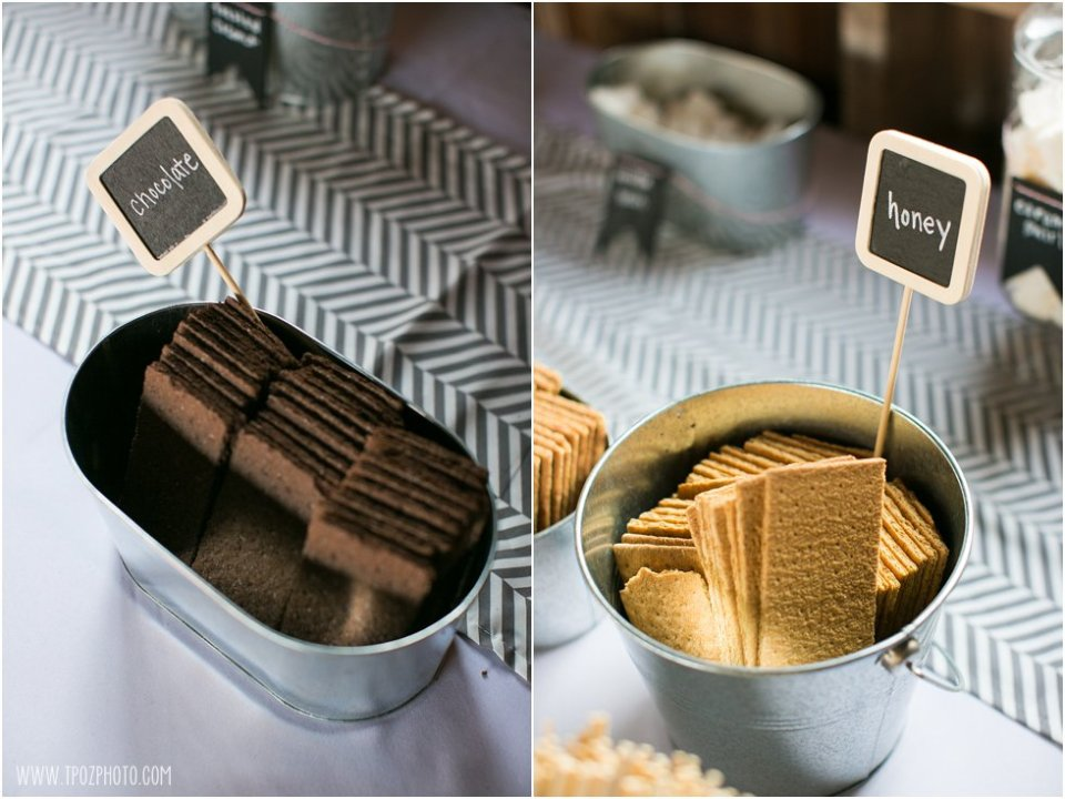S'mores Bar Wedding Reception