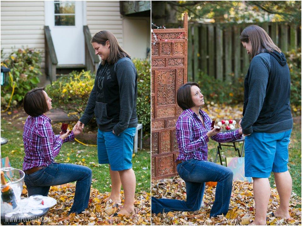 Surprise same-sex engagement proposal